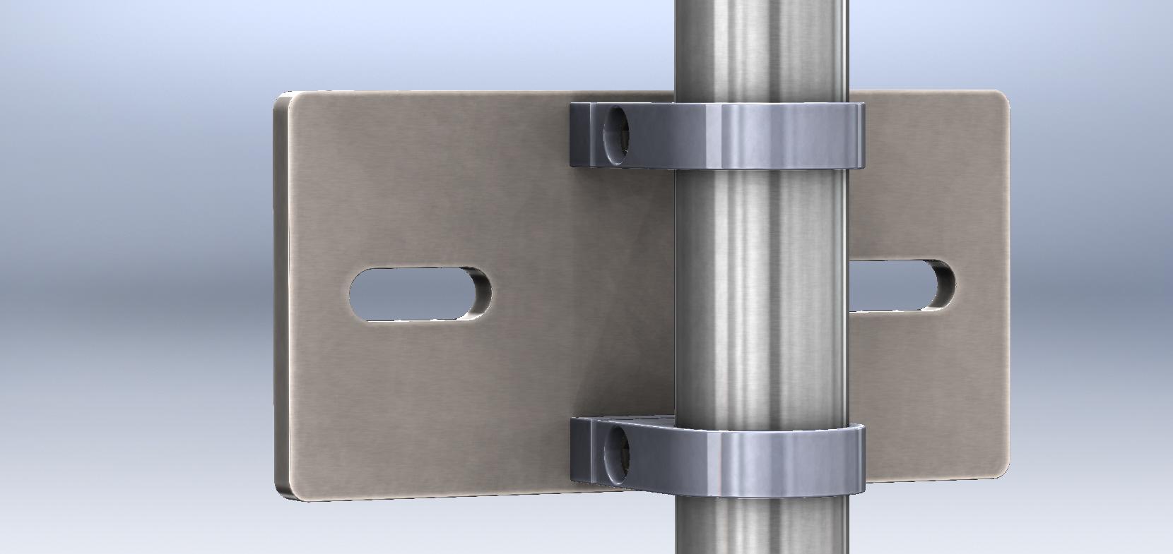 handl ufe gel nder aus edelstahl made in germanywandhalterung f r gel nder pfosten 33 7mm. Black Bedroom Furniture Sets. Home Design Ideas