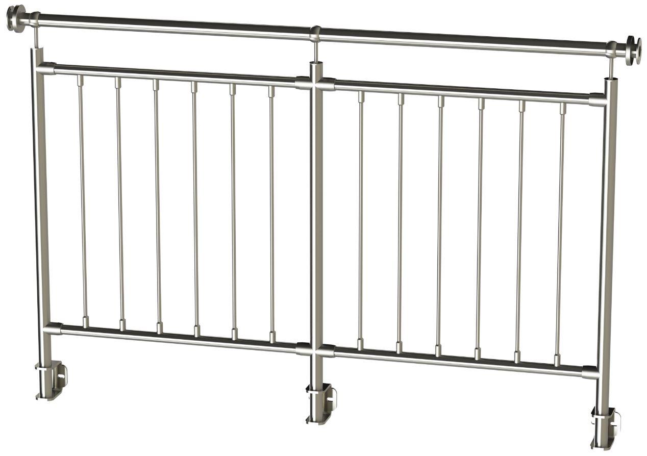 Edelstahl Handlauf-Rohr Pfosten Halter ECK 42,4 170