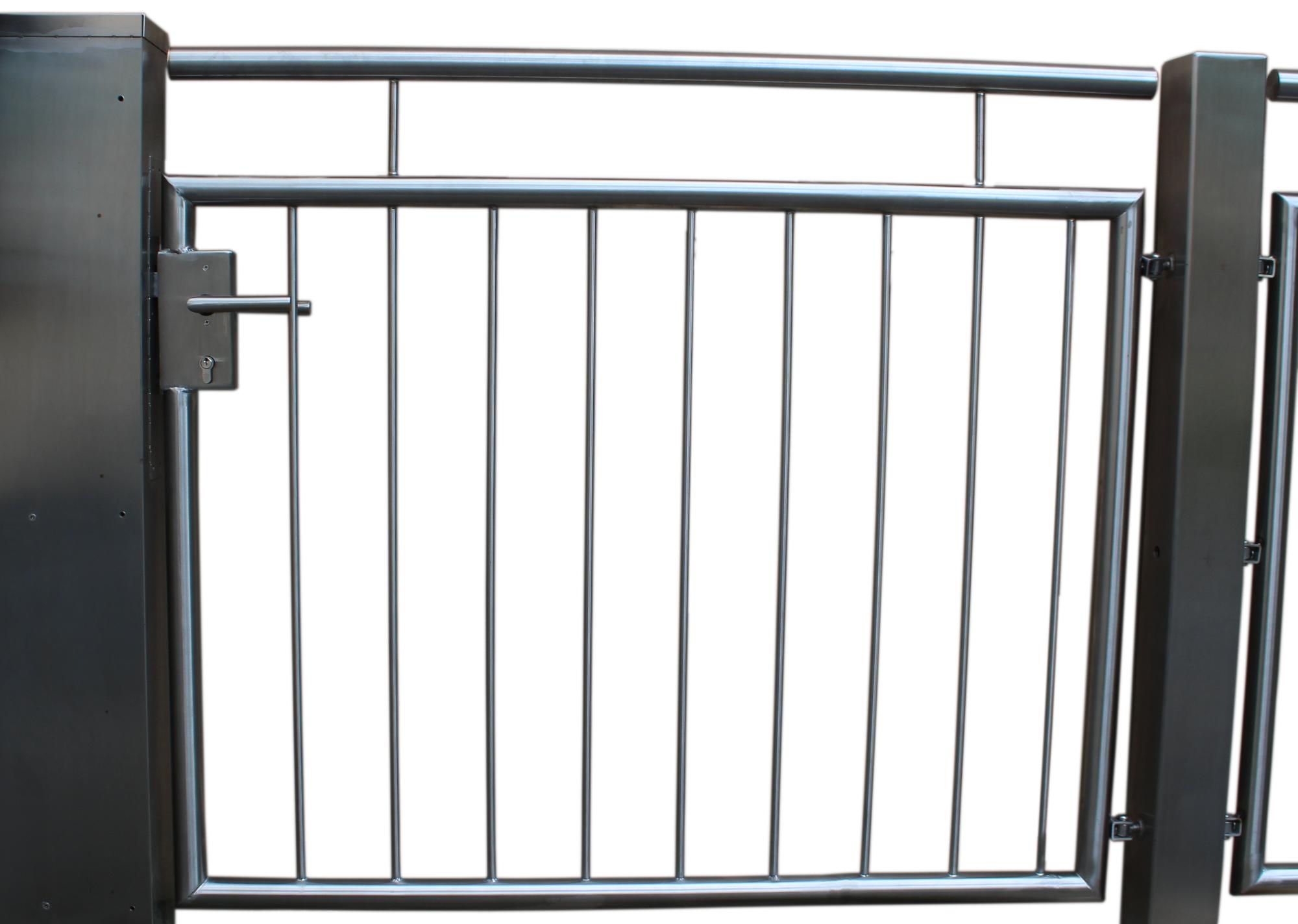 handl ufe gel nder aus edelstahl made in germanygartent r aus edelstahl einfl glig made. Black Bedroom Furniture Sets. Home Design Ideas