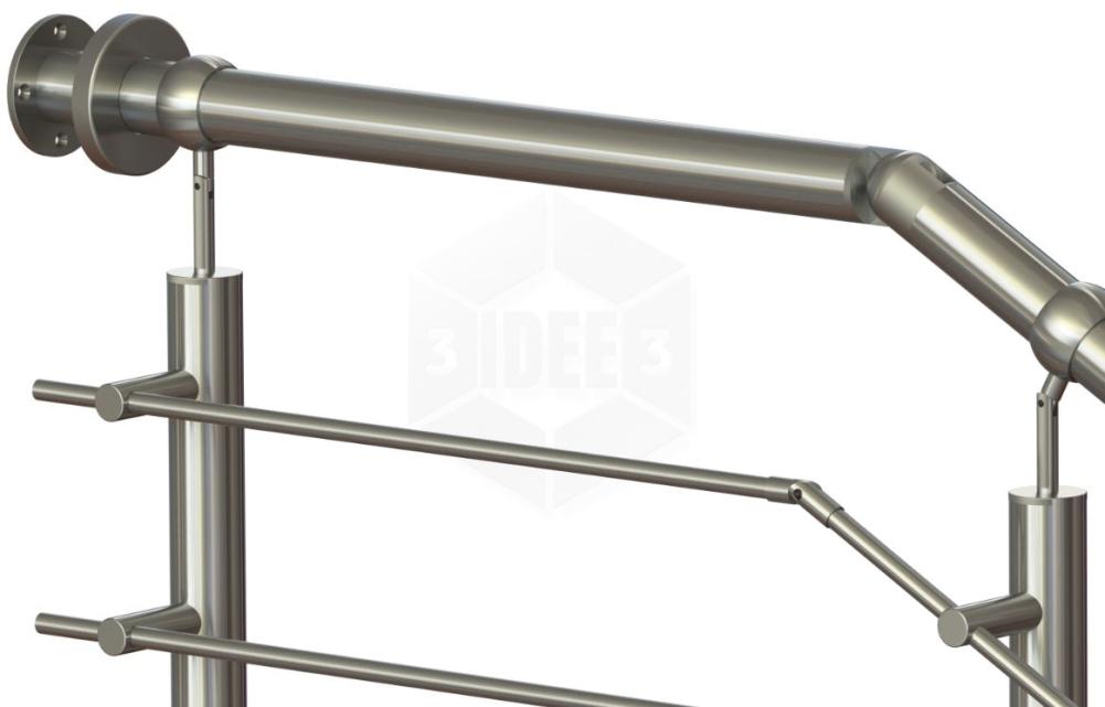 Edelstahl Handlauf Treppe Treppengeländer Geländer Made in Germany 180cm 1800mm